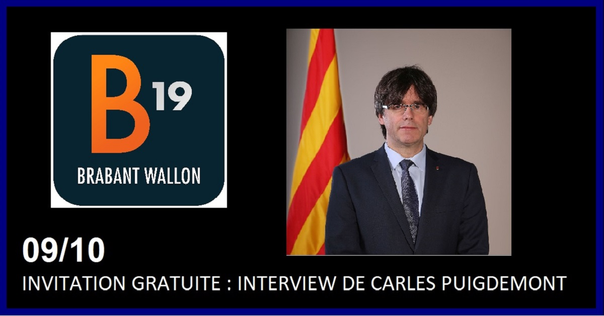 INVITATION GRATUITE : INTERVIEW DE CARLES PUIGDEMONT