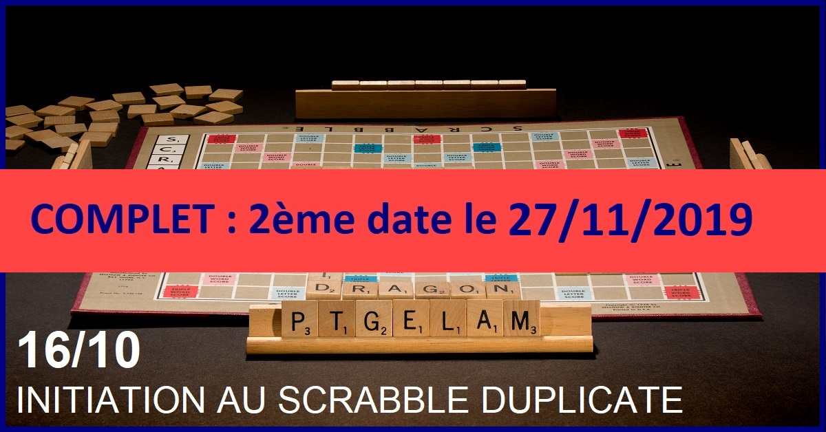 INITIATION AU SCRABBLE DUPLICATE (GRATUIT)